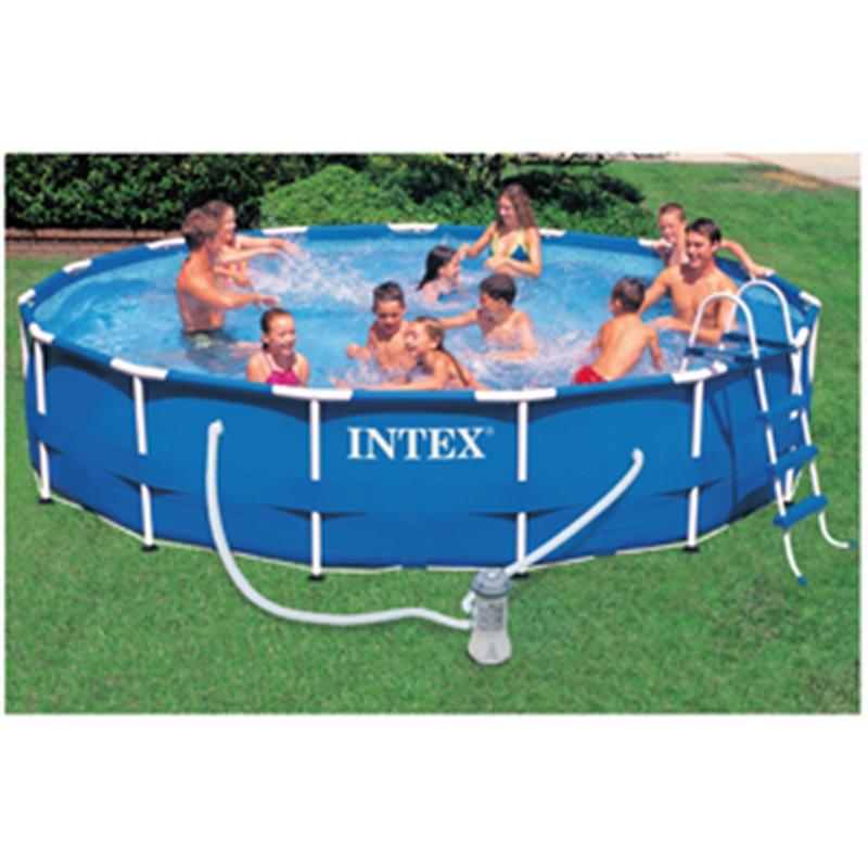 Vit28622 intex piscina tonda frame telaio autoportante con pompa filtro - Piscina intex tonda ...